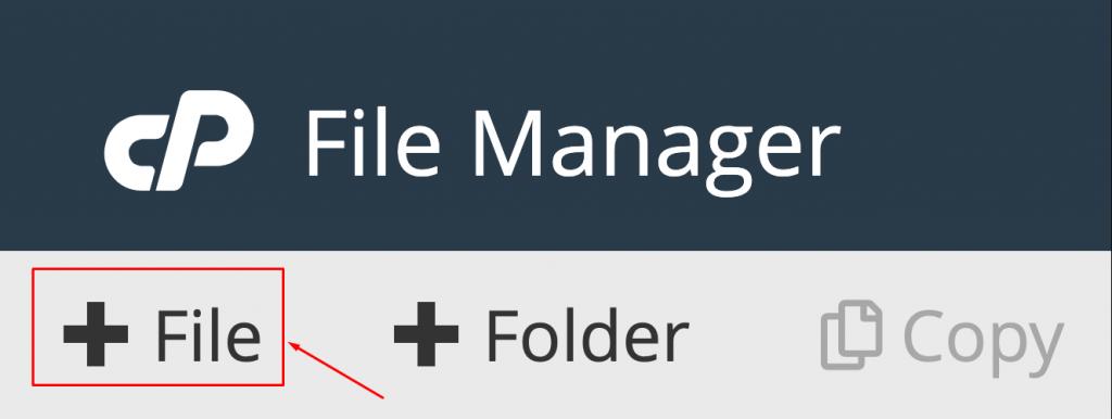 new file cpanel