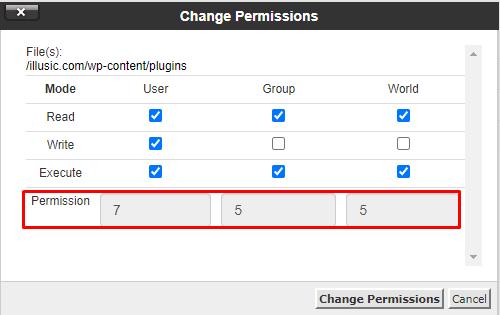 fix permissions uploads